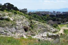 Roman Ampitheatre Cagliari, Sardinia, Italien royaltyfria foton