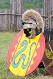 Roman ancient armor. Ancient roman armor - shield and helmet Stock Photography