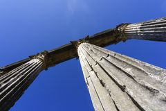 Roman ancient details in turkey anatolia. Ancient Greek Temple At Anatolia Royalty Free Stock Images