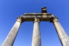 Roman ancient details in turkey anatolia. Ancient Greek Temple At Anatolia Stock Images