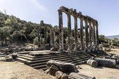 Roman ancient details in turkey anatolia. Ancient Greek Temple At Anatolia Stock Image