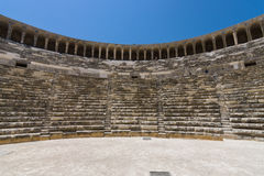 The Roman ancient theater in Aspendos. Stock Photo