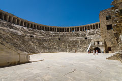 The Roman ancient theater in Aspendos Stock Images