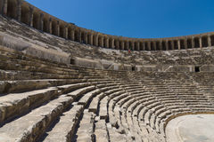 The Roman ancient theater in Aspendos. Stock Images