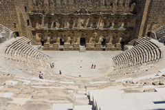 The Roman ancient theater in Aspendos. Royalty Free Stock Photos