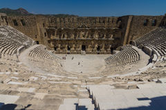 The Roman ancient theater in Aspendos. The province of Antalya. Mediterranean coast of Turkey Royalty Free Stock Image