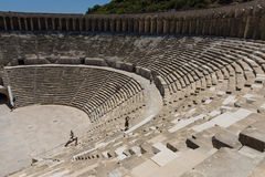The Roman ancient theater in Aspendos. Royalty Free Stock Photo