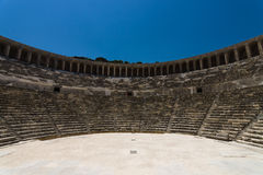 The Roman ancient theater in Aspendos. Stock Image