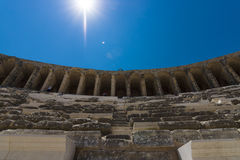 The Roman ancient theater. Royalty Free Stock Images