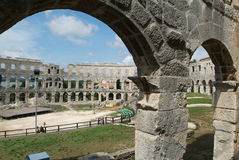 The roman anfitheater of Pula. Croatia Royalty Free Stock Images