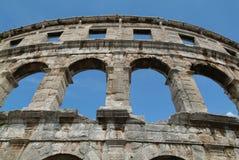 The roman anfitheater of Pula Stock Photos