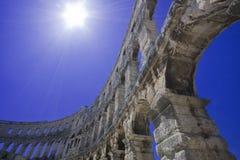roman anphitheatre arkivbilder
