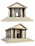roman antik byggnad vektor illustrationer
