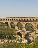 The Roman Aquaduct - Pont du Gard. The Roman Aquaduct Pont du Gard in France near Nimes Stock Photo