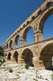 The Roman Aquaduct - Pont du Gard Royalty Free Stock Photography
