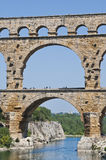 The Roman Aquaduct - Pont du Gard Royalty Free Stock Images