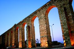 Roman aquaduct in Portugal Stock Images