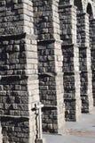 Roman Aquaduct in Segovia Stock Afbeeldingen