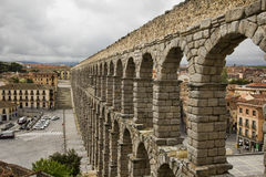 Roman Aquaduct in Segovia, Spain Royalty Free Stock Photo