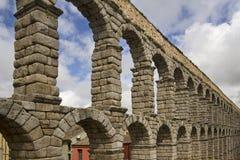 Roman Aquaduct in Segovia, Spain Stock Image