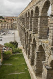Roman Aquaduct in Segovia, Spain Royalty Free Stock Photography