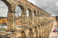 Roman Aquaduct in Segovia, Spain Royalty Free Stock Images
