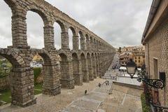 Roman Aquaduct in Segovia, Spain Stock Photos