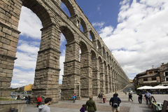 Roman aquaduct in Segovia, Spain Royalty Free Stock Photo