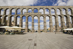 Roman aquaduct in Segovia, Spain Stock Image