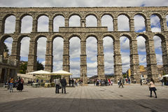 Roman aquaduct in Segovia, Spain Stock Photos