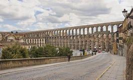 Roman aquaduct in Segovia, Spain Stock Photography