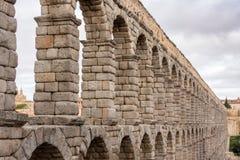 Roman aquaduct in Segovia, Spanje Royalty-vrije Stock Afbeelding