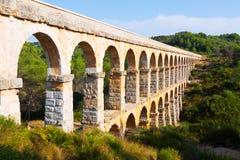 Roman aquaduct in Tarragona Royalty-vrije Stock Afbeeldingen