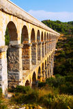 Roman aquaduct in Tarragona Stock Afbeelding