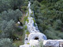 Roman Aquaduct top Stock Photography