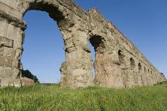 Roman aqueduct. Part of an ancient Roman aqueduct (Rome, Italy Royalty Free Stock Photos