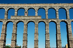 Roman aqueduct Stock Photos