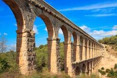 Roman aqueduct. In Tarragona, Spain Stock Photography