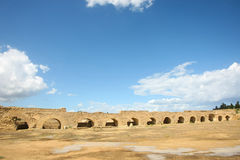 Roman aqueduct arches near Carthage Stock Image