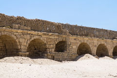 The roman aqueduct in Caesarea Israel Stock Photography