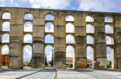 Roman Aqueduct da Amoreira in Elvas in Portugal Stock Images