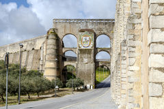 Roman Aqueduct da Amoreira in Elvas in Portugal Royalty Free Stock Photography