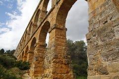 Roman aqueduct. El Pont del Diable, a roman aqueduct in Tarragona, at Spain Stock Photos