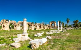 Roman Aqueduct im Reifen, der Libanon stockfoto