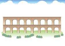 Roman Aqueduct Images royalty free illustration