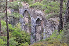 Roman aqueduct on island Lesbos,Greece Stock Photos