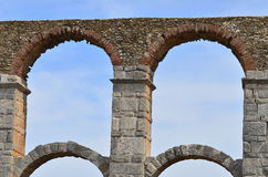 Roman aqueduct on island Lesbos,Greece Royalty Free Stock Photo