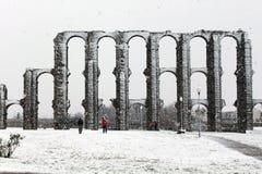 Roman aqueduct in Merida Stock Image