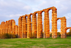 Roman aqueduct. Merida Stock Photography