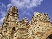 Roman aqueduct in Merida detail Royalty Free Stock Images